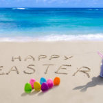 Happy Easter beach image