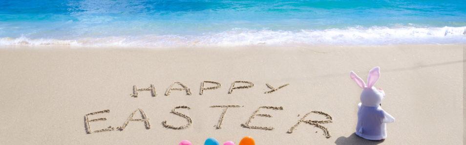 Happy Easter beach image