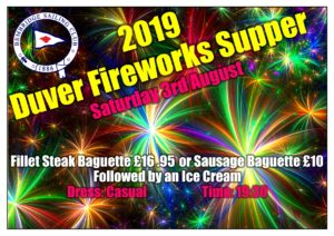 poster fireworks and supper